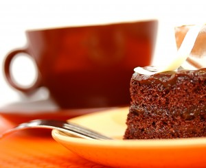 Delicious Piece Of Chocolate Cake To Eat With A Morning Coffee